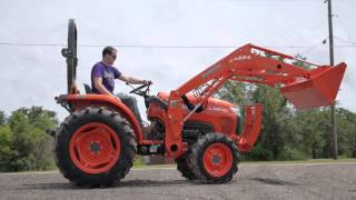 Demo of used Kubota L3200 Tractor with Loader and Gear Shift Transmission