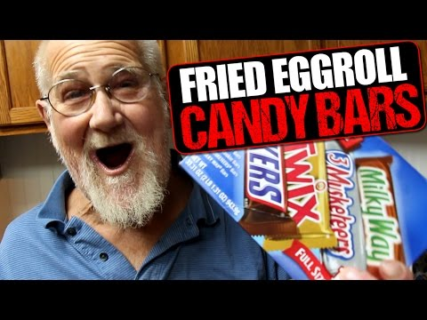 ANGRY GRANDPA'S FRIED CANDY BAR EGG ROLLS!!!