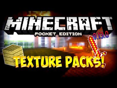 MCPE TEXTURE PACKS IN 0.13.0!   Minecraft Pocket Edition Update / News Video