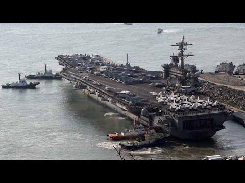 미국 항모 칼빈슨호 한반도 해상 진입…북한 도발 경고 / 연합뉴스TV (YonhapnewsTV)
