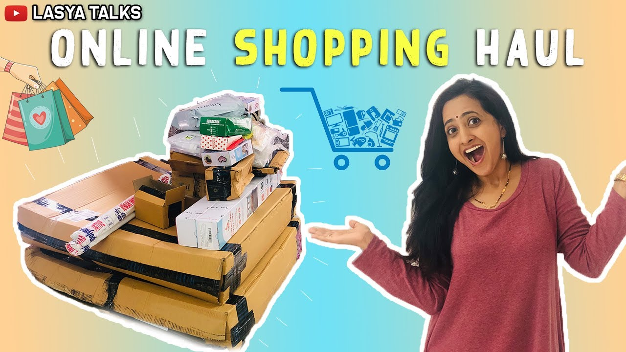 Lasya Talks || Online Shopping Haul || Home needs ||