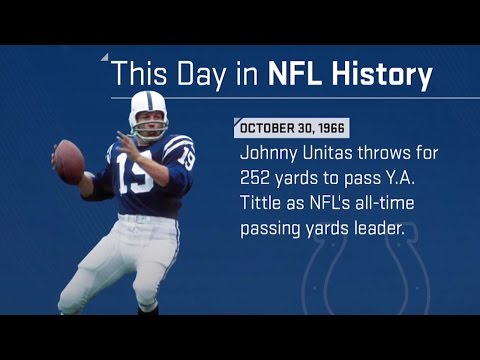 Johnny Unitas Becomes The All-Time Passing Leader | This Day in NFL History (10/30/66)
