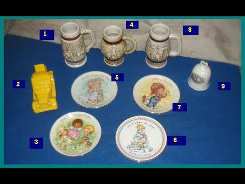 Nine different Vintage AVON Collectables & What is it worth information