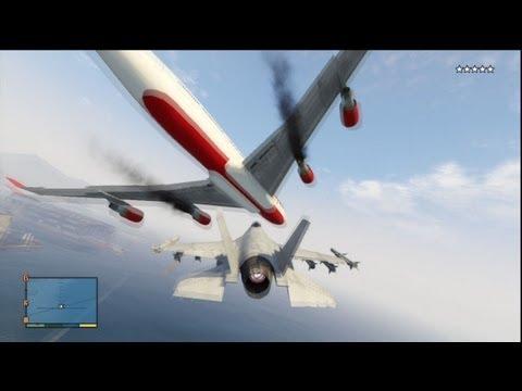 GTA V: Fighter Jet Destruction(5 Star Wanted Level)