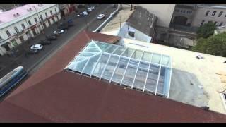 Зенитный фонарь на крыше здания(Компания ProSteklo представляет вашему вниманию проект зенитного фонаря частично встроенного в крышу здания...., 2015-10-08T10:25:20.000Z)