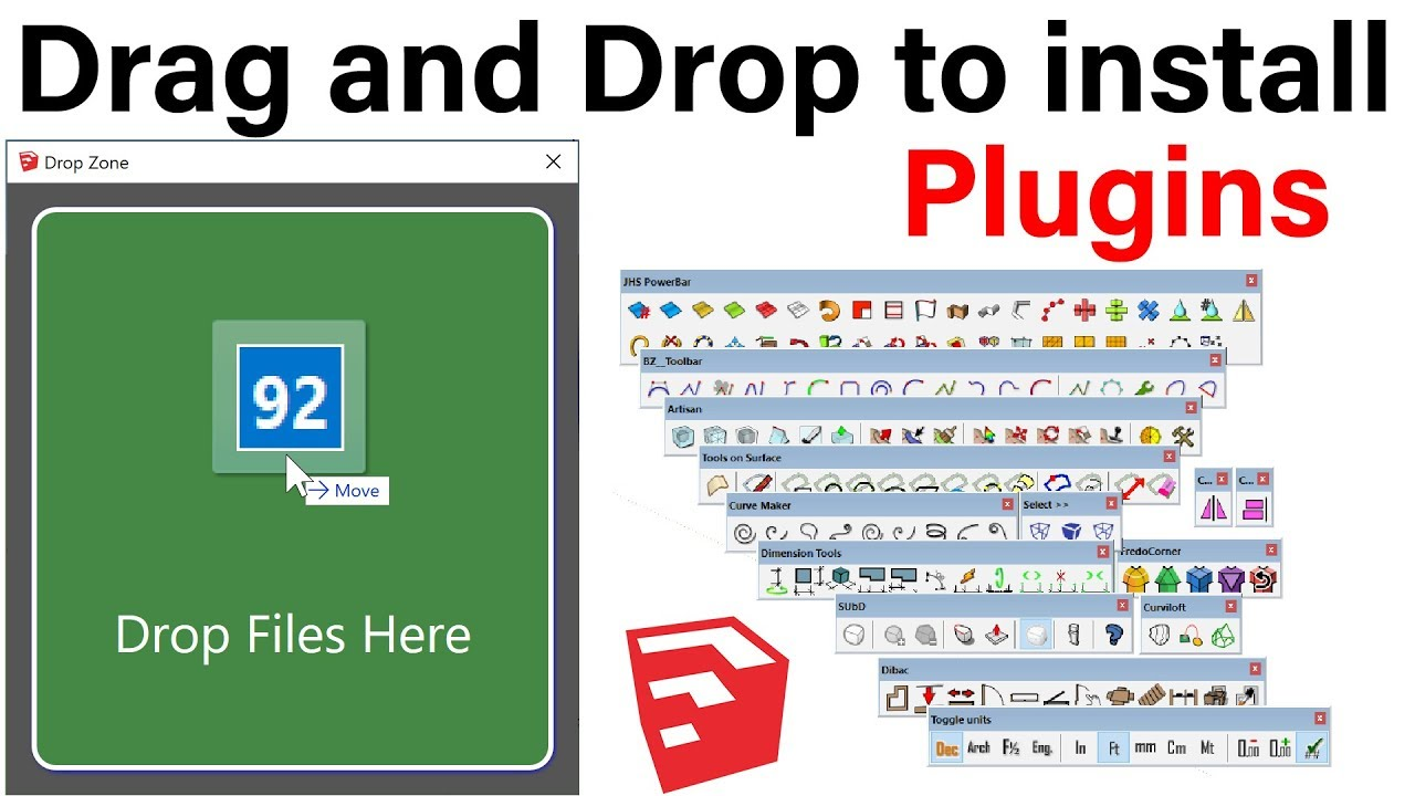 Drag and Drop to install Plugins In SketchUp