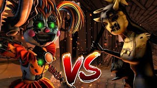 SFMFNAF VS BAT M SCRAP BABY VS BENDY AND THE  NK MACH NE CHAPTER 4 AL CE R SE OF THE NEW QUEEN