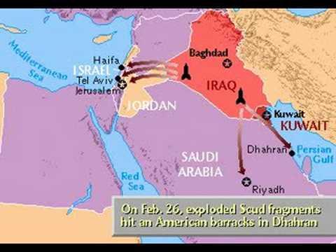Gulf War Map 1990 - 91 - YouTube