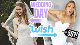 Download I TRIED WEDDING DRESSES FROM WISH vs My ACTUAL Wedding Dress Mp3 and Videos
