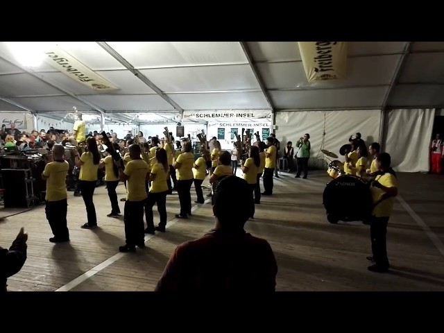 De Schallis spielen den Bergmannsmarsch in Ehrenfriedersdorf ( 09.09.2017)