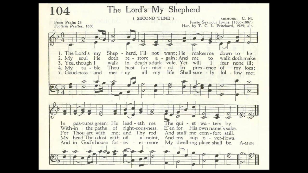 The Lord S My Shepherd Crimond Youtube