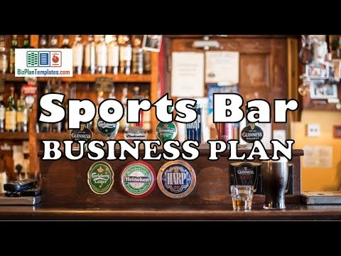 Sports Bar Business Plan Template With Example And Sample Youtube