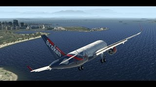 """Короткая полоса"". В Рио-де-Жанейро на A320 для X-Plane 11."