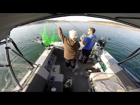 Don pedro 5 10 15 trout hit on downrigger set up youtube for Don pedro fishing report