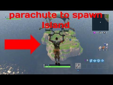 Fortnite PARACHUTE TO SPAWN ISLAND!!!