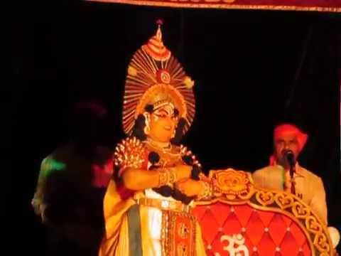 Yakshagana - shwetha kumara - Mandarthi mela - ಇವಳ್ಯಾರಿರ್ ಅರರೇ ಮಂಜುಳ ಗಾತ್ರೇ