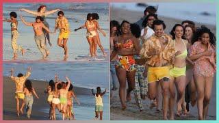 HARRY STYLES FILMING WATERMELON SUGAR MUSIC VIDEO (January 29)