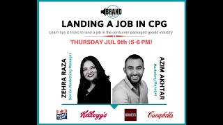 BrandCast Webinar: How To Land A Job in CPG