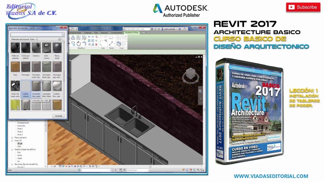 Revit 2017 leccion 1 tutorial espa o curso for Manual de muebleria pdf gratis