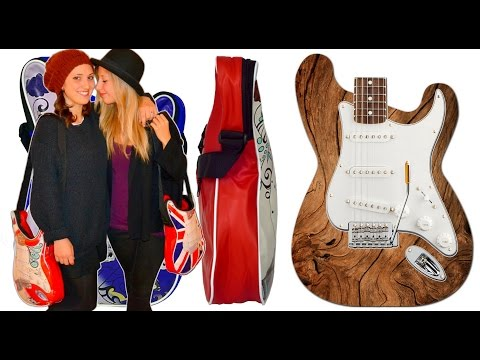 Guitar shoulder bags. Music themed ideas gift for music lovers.