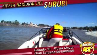 Largada de lancha 41 FIESTA NACIONAL DEL SURUBÍ - LARGADA LANCHAS - ALAS DE ARTE