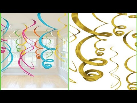 #partydecoration DIY EASIEST PARTY DECORATION: How To Make Swirl Party Decoration