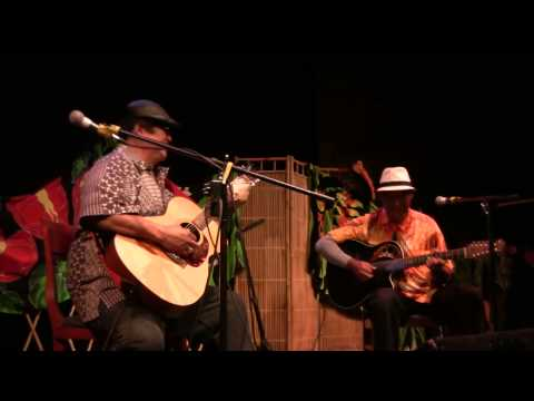 """Mauna Loa Slack Key"", Performed By Ledward Kaapana (With Hand In Bag) And Mike Ka"