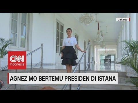 Ini yang Dibicarakan Angnez Mo saat Bertemu Presiden Jokowi di Istana