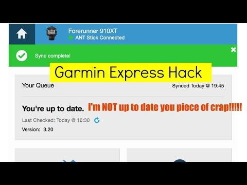 Garmin Express Hack - Data Not Uploading? Try this    - YouTube