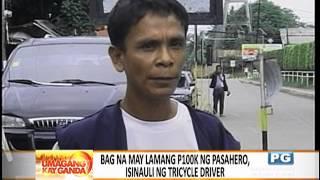 Tricycle driver, nagbalik ng naiwang P100K ng sundalo