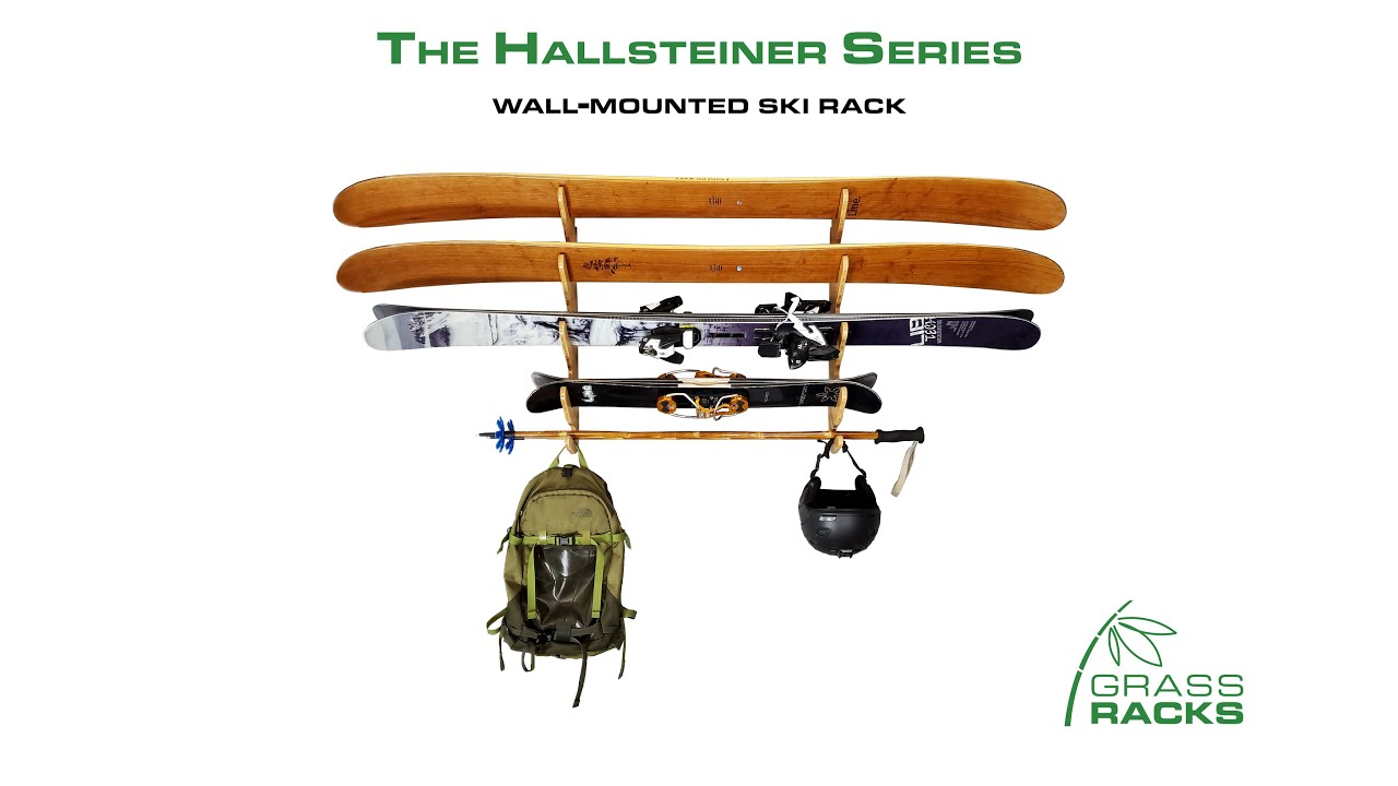 bamboo birch ski rack horizontal