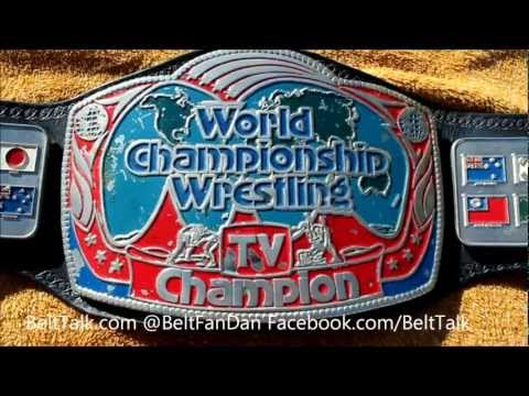 Real Ring Used NWA Georgia National Television WCW World Championship Wrestling Title Belt