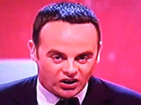 Ant McPartlin looses his mind on Britains got Talent. 24th May 2009.