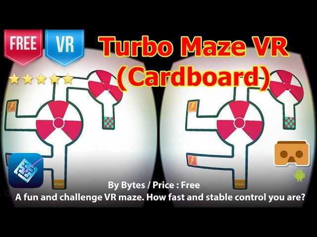 Turbo Maze VR (Cardboard) - How fast and stable control you are to exit the VR maze? #1