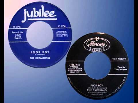 ROYALTONES / CARDIGANS - Poor Boy (1958) Instrumental / Vocal