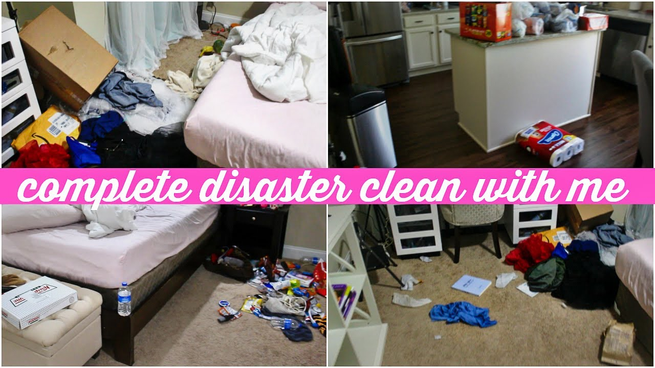 COMPLETE DISASTER CLEAN WITH ME | MESSY HOUSE TRANSFORMATION | EXTREME CLEANING MOTIVATION 2020