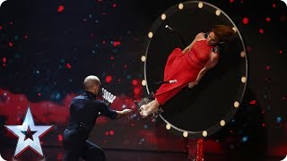 Can knife throwing act Tyrone & Mina avoid the chop?   Semi-Final 1   Britain's Got Talent 2017