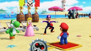 Super Mario Party - Challenge Road - Mashrom Beach: Mario