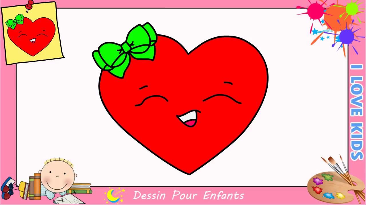 Comment dessiner un coeur emoji kawaii facilement pour enfants 8 youtube - Comment dessiner un enfant ...