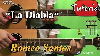La Diabla - Romeo Santos - Cover/Tutorial Guitarra Bachata