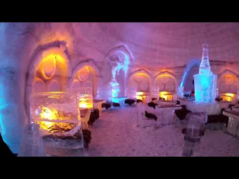 Exploring the Ice Hotel, Montreal