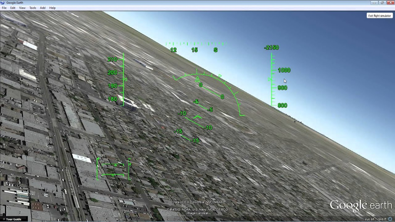 Introduction to Google Earth's Flight Simulator HUD - YouTube