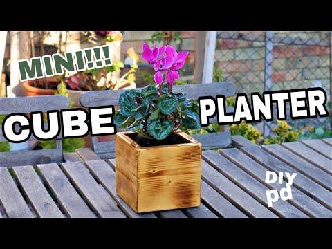 cube-flower-planter-box---mini-diy-garden-planter-box-|-diy-decor-ideas