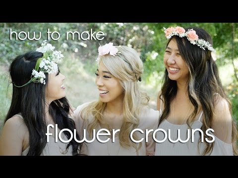 *:・゚xoxo christine | how to make fairy flower crowns ・゚*.