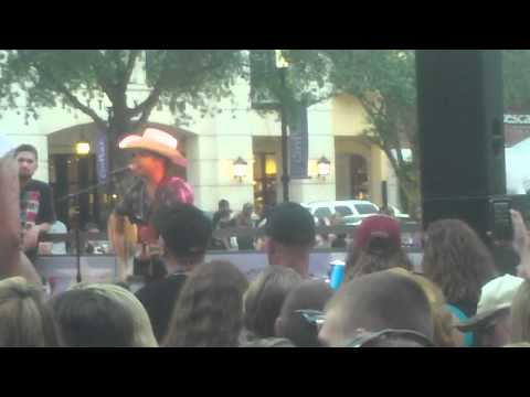 Justin Moore sings Redneck Reason at the WIRK Free Concert Cityplace West Palm 5/17/12