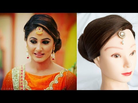juda || Hina Khan inspired HAIR style || Celebrity Hairstyles || Indian Hairstyles for medium hair