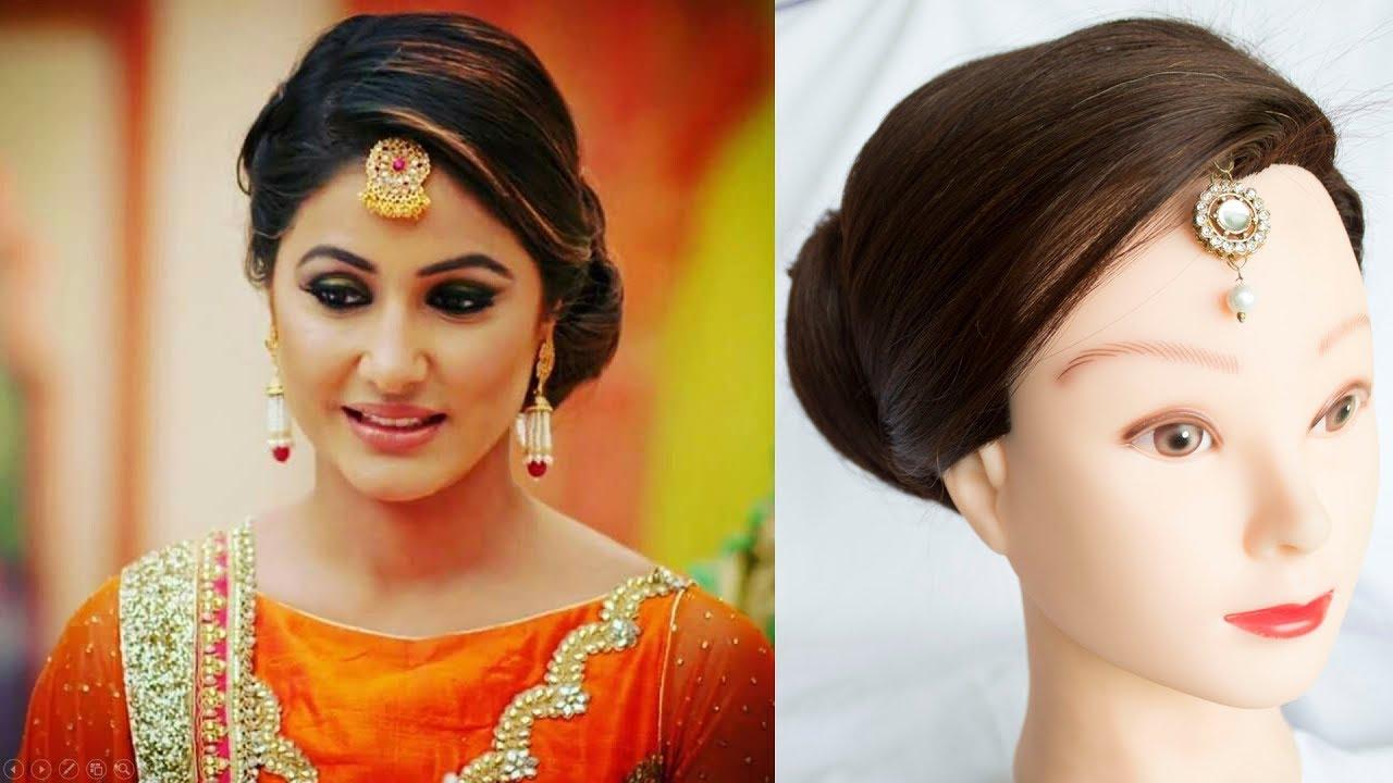 juda || hina khan inspired hair style || celebrity hairstyles || indian hairstyles for medium hair