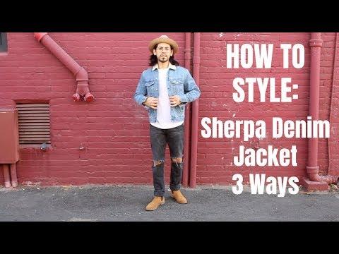 How To Style Sherpa Denim Jacket 3 Ways Youtube