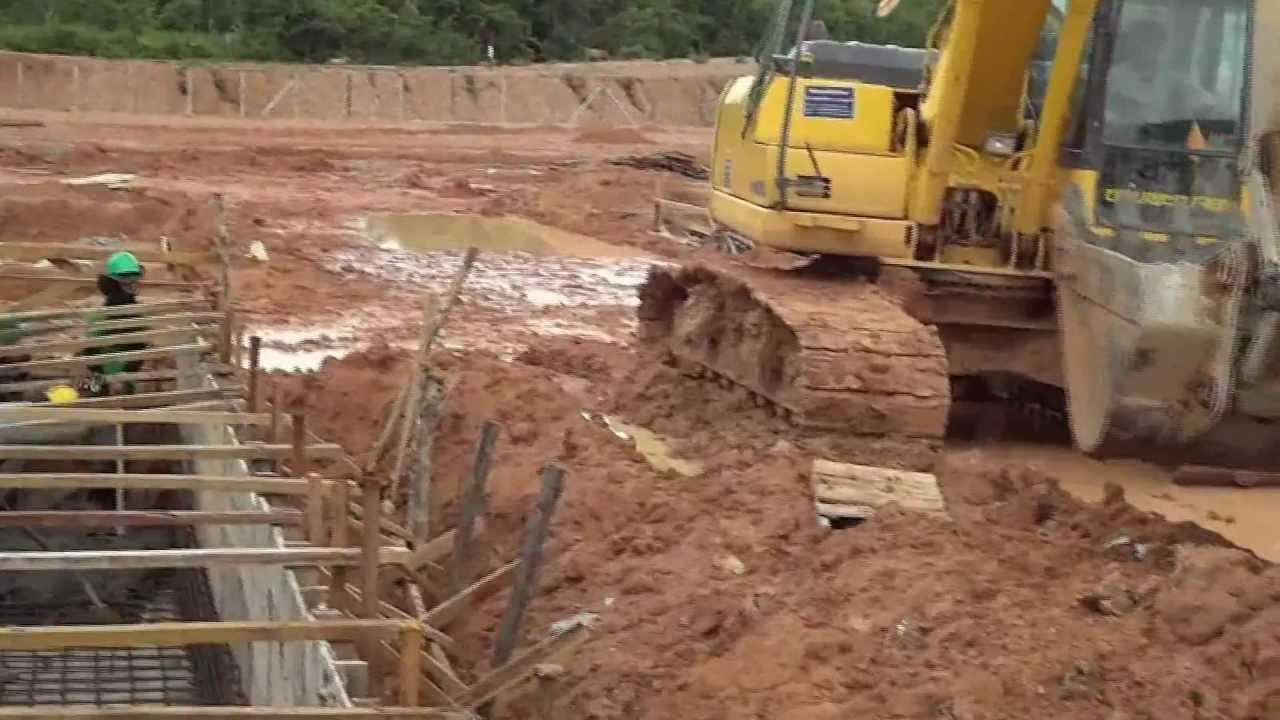 115/22 kV Substation Ban Nongdeun Project, Laos, Pouring