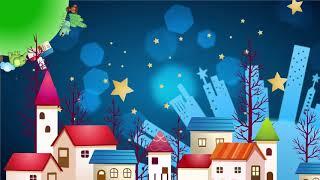 Download Cartoon night planet city background - Cartoon kids